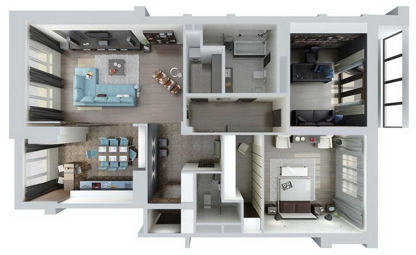 Ремонт двухкомнатной квартиры в брежневке